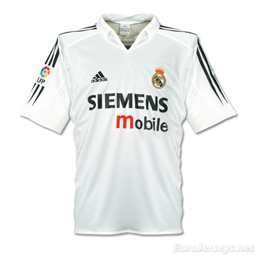 Real Madrid 04-05 Home Retro Cheap Soccer Jerseys